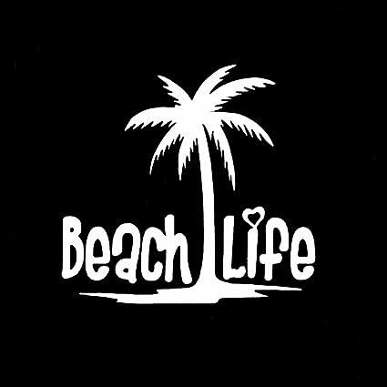 dcfcf08ebd Amazon.com  Beach Life Palm Tree Decal Vinyl Sticker