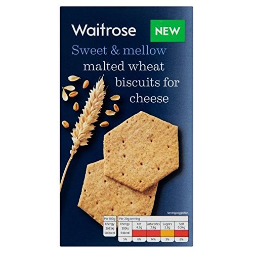 Malted Wheat Biscuits For Cheese Waitrose 150g (Pack of 2)
