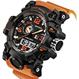 Sanda Men's Digital Wrist Watches Military Sports Electronic Quartz Outdoor Army LED Stopwatch Big Face