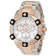 Invicta Men's 13716 Arsenal Chronograph Mother of Pearl Dial Two Tone Stainless Steel Watch