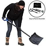 Best Selling 3 Piece Collapsible Snow Shovel with Ice Chopper – Soft Comfort Pole Grip and Ergonomic Snow Shovel Handle to Shovel Snow with Easy Scooping and Throwing