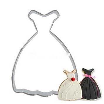 gluckliy vestido de princesa de forma cortador de galletas de acero inoxidable pastelería galleta cortador de Fondant molde para hornear molde decoración de ...