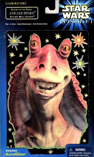 Star Wars Episode 1 Illuminations Glow-in-the-dark Jar Jar Binks Action Wall Scenes