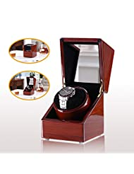 [New Style Rubber Wood] Love Nest wood Single Watch Winder Piano Finish Pure Handmade watch winder with High Quality Japanese Mabuchi Motor