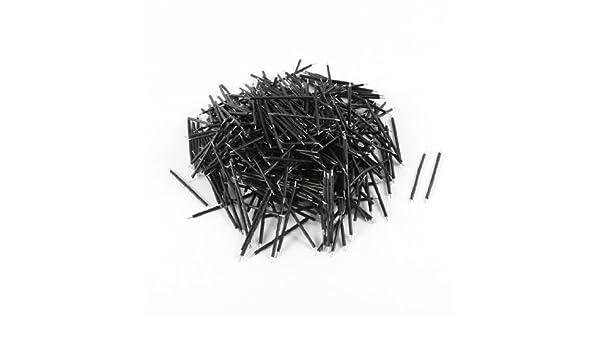 eDealMax 1000Pcs Negro PVC con revestimiento de estaño 0.5x40mm 22 AWG alambre sin escobillas del motor Cable - - Amazon.com