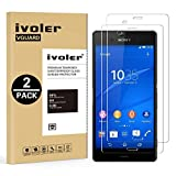 [2 Pack] Sony Xperia Z3 Screen Protector- iVoler® Premium Tempered Glass Screen Protector for Sony Xperia Z3- 0.2mm Ballistics Glass, 2.5D Round Edge, 9H Hardness Featuring Anti-Scratch, Anti-Fingerprint, Bubble Free- Lifetime Replacement Warranty