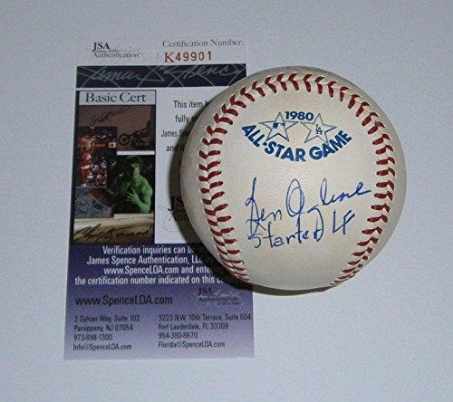 1980 Mlb All Star Game - Ben Oglivie Signed Baseball - 1980 All Star Game COA - JSA Certified - Autographed Baseballs