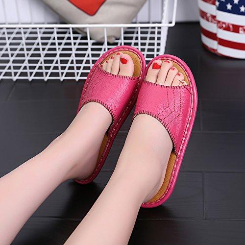 uomini moda terra arredamento donne rosso fankou sandali morbido 40 e e di le estivi coppie piano al in fresco per 39 pantofole d18n6Xn