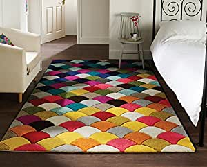 Spectrum alfombra tapete con dise o moderno y for Alfombras comedor amazon