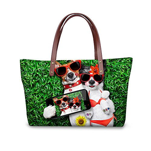 Bags Satchel Purse W8ccc1985al Top Foldable Women FancyPrint Handbags Stylish Wallets Handle ZqT1pS