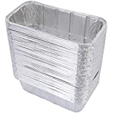 "DOBI (50 Pack) Loaf Pans - Disposable Aluminum Foil 2Lb Bread Tins, Standard Size - 8.5"" X 4.5"" X 2.5"""