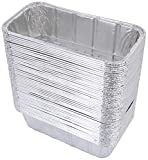 DOBI (50 Pack) Loaf Pans - Disposable Aluminum Foil 2Lb Bread Tins, Standard Size - 8.5