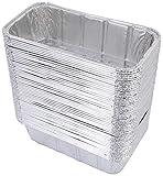 DOBI (50 Pack) Loaf Pans – Disposable Aluminum Foil 2Lb Bread Tins, Standard Size – 8.5″ X 4.5″ X 2.5″ For Sale