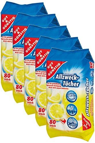 Toallitas húmedas antibacteriano en dispensador del paquete 400 Unidades – 5 Pack (contenido 5 x