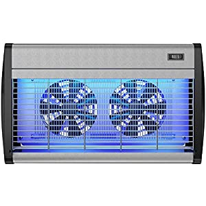 Hoont Robust Electric Indoor Bug Zapper with UV Light and Dual Fans – Covers 4,000 Sq. Ft / Fly Killer, Insect Killer, Mosquito Killer – For Residential, Commercial and Industrial Use [UPGRADED]