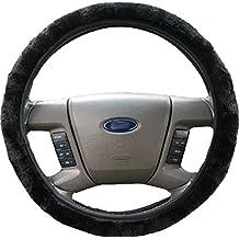 Northern Essentials- Premium Plush Winter Steering Wheel Cover, Black