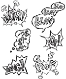 "Stampers Anonymous Tim Holtz Cling Rubber Stamp Set, 7"" by 8.5"", Crazy Thoughts"
