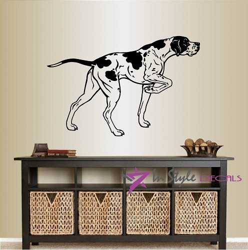 - Wall Vinyl Decal Home Decor Art Sticker English Pointer Hunting Dog Pet Animal Pet Shop Grooming Salon Bedroom Nursery Room Removable Stylish Mural Unique Design