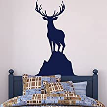"BATTOO Deer Wall Decal Buck Wall Decal Hunting Wall Decal Deer Vinyl Decal Boy Bedroom Decal Boy Nursery Decal(40""h x23""w, dark brown)"