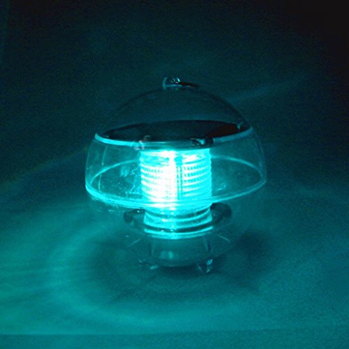 Waterproof Solar LED Floating Light Garden Yard Lawn Pond Pool Landscape Lamp - Light Green by Mmrm