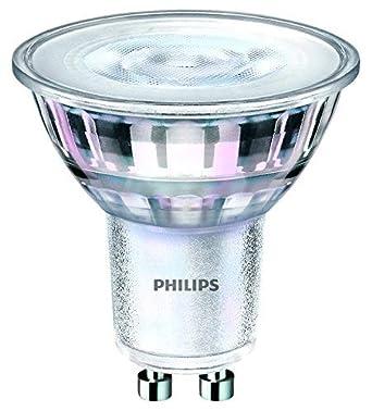 Philips Bombilla LED Classic GU10, 5 W equivalente a 80 W, blanco cálido, WarmGlow regulable, Pack de 3: Amazon.es: Iluminación