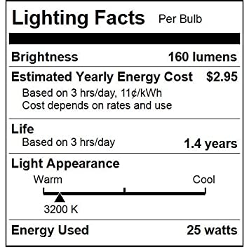 Sunlite 25CTC//32//E14//25PK 25W Incandescent Torpedo Tip Chandelier with Crystal Clear Light Bulb and European E14 Base 25 Pack