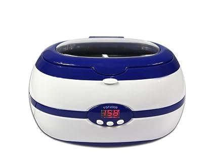 vetrineinrete® Limpiador por ultrasonidos para joyas relojes monedas Gafas objetos metálicos con pantalla digital y