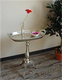 Hazenkamp Alu Massiv Beistelltisch Tisch Flaschentablett Silber