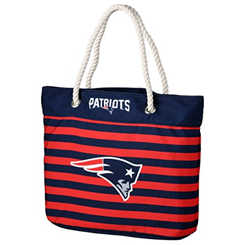 - FOCO NFL New England Patriots Nautical Stripe Tote Beach Bag, Team Color, One Size