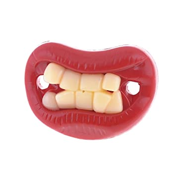 Silicona-chupete dientes divertido juguete para bebés ...