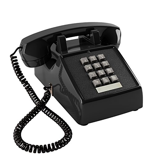 (Home Intuition Amplified Single Line Corded Desk Telephone with Extra Loud Ringer, Black)