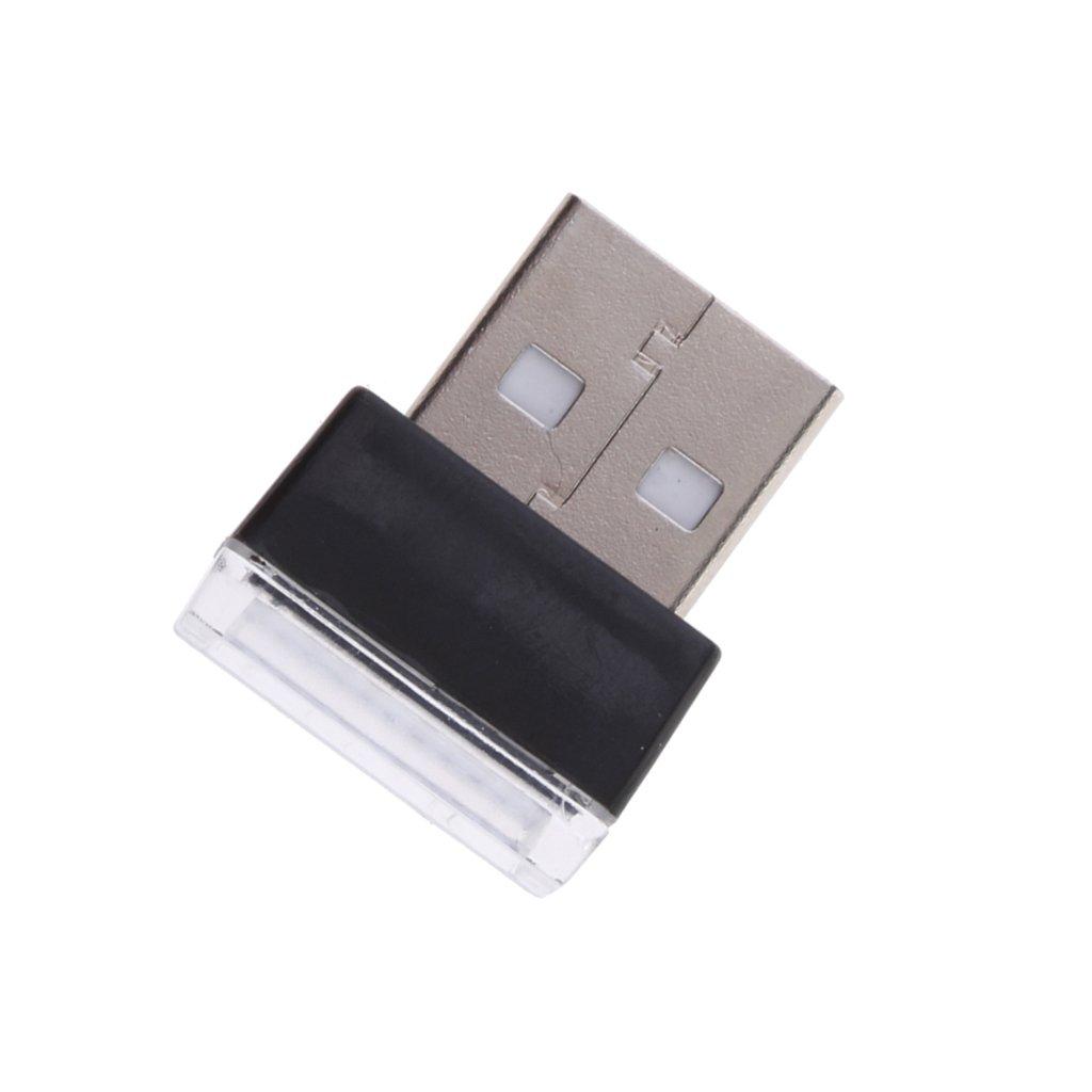 USB L/ámpara Ambiental Interior del Coche para Atm/ósfera Decorativa Automotriz de Iluminaci/ón