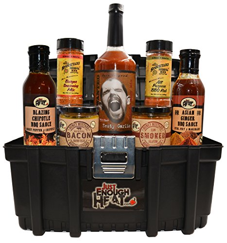 BBQ Sauce Toolbox Gourmet Gift Set - Barbecue Food Basket for Men & Women by Just Enough (Barbecue Sauce Gift Basket)
