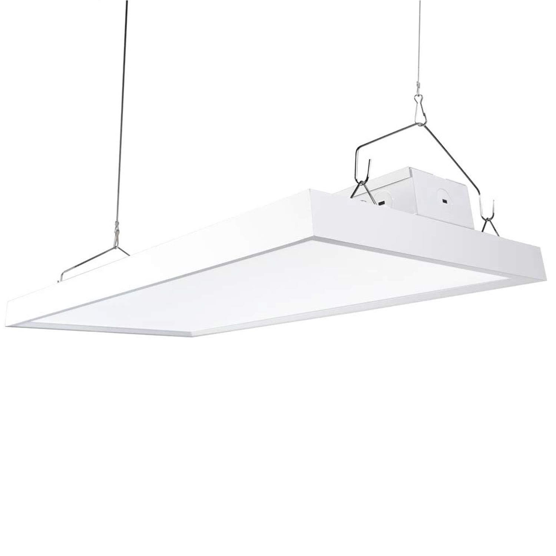 AntLux 2FT Linear LED High Bay Light Fixture - 110W (400W Fluorescent Equiv.), 13200lm, 5000K, Dimmable, Hanging Warehouse Shop Lights, Industrial Indoor Workshop Garage High Bay LED Lighting