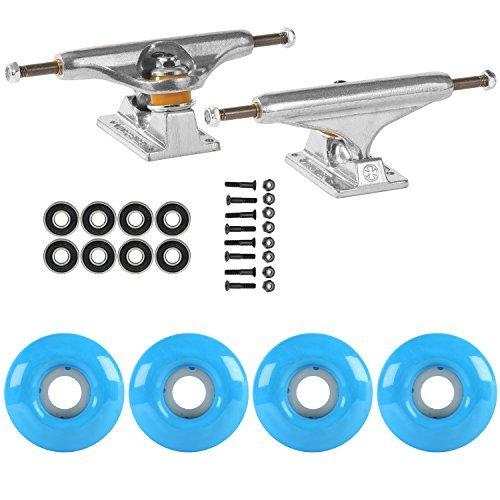 スケートボードパッケージIndependent 139 Trucks 52 MmシアンブルーABEC 7 Bearings [並行輸入品]   B078WWLR92
