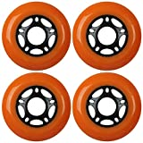 KSS Outdoor Asphalt Formula 89A Inline Skate X4 Wheels, Orange, 76mm