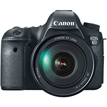 Canon EOS 6D 20.2 MP CMOS Digital SLR Camera with 3.0-Inch LCD and EF 24-105mm f/4L IS USM Lens Kit - Wi-Fi Enabled