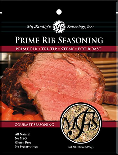 Rib Prime Recipes (My Family's Prime Rib Seasoning, 10.2 oz Pouch)