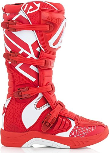 Motocross Rosso Boots Acerbis bianco Bianco X Team Giallo 67TaqwT
