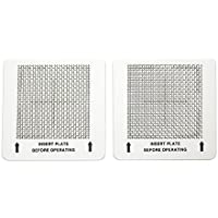 2 Ceramic Ozone Plates 4.5x 4.5 for EcoQuest, Alpine, Lightning Air, Better Living, Healthy Living, Zen Living, Spring Air, and other air purifiers.