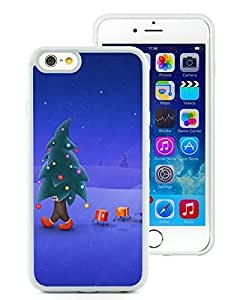 Special Custom Made iPhone 6 Case,Christmas Tree White iPhone 6 4.7 Inch TPU Case 1