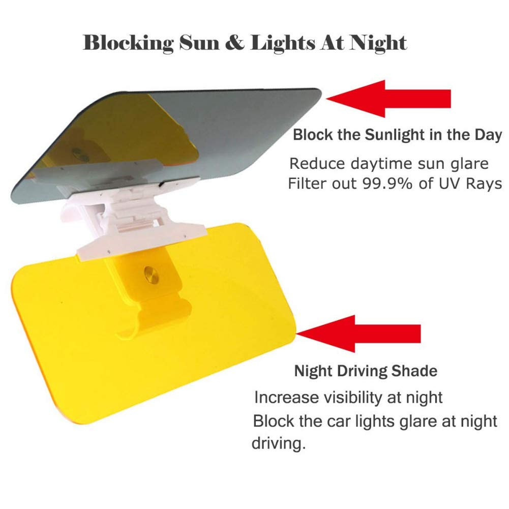 Savlot Visiera per Auto Sun Blocker 2 in 1 Prolunga per Parasole per Auto per Day Night Extender antiriflesso Universale Parabrezza Visiera di Guida Blocco Parasole