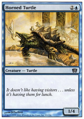 Magic: the Gathering - Horned Turtle - Eighth Edition