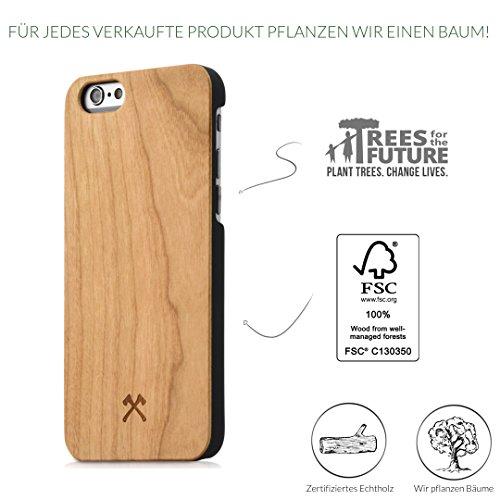 Woodcessories EcoCase Caspar - Coque, Housse, Case en bois véritable pour iPhone 6, 6S
