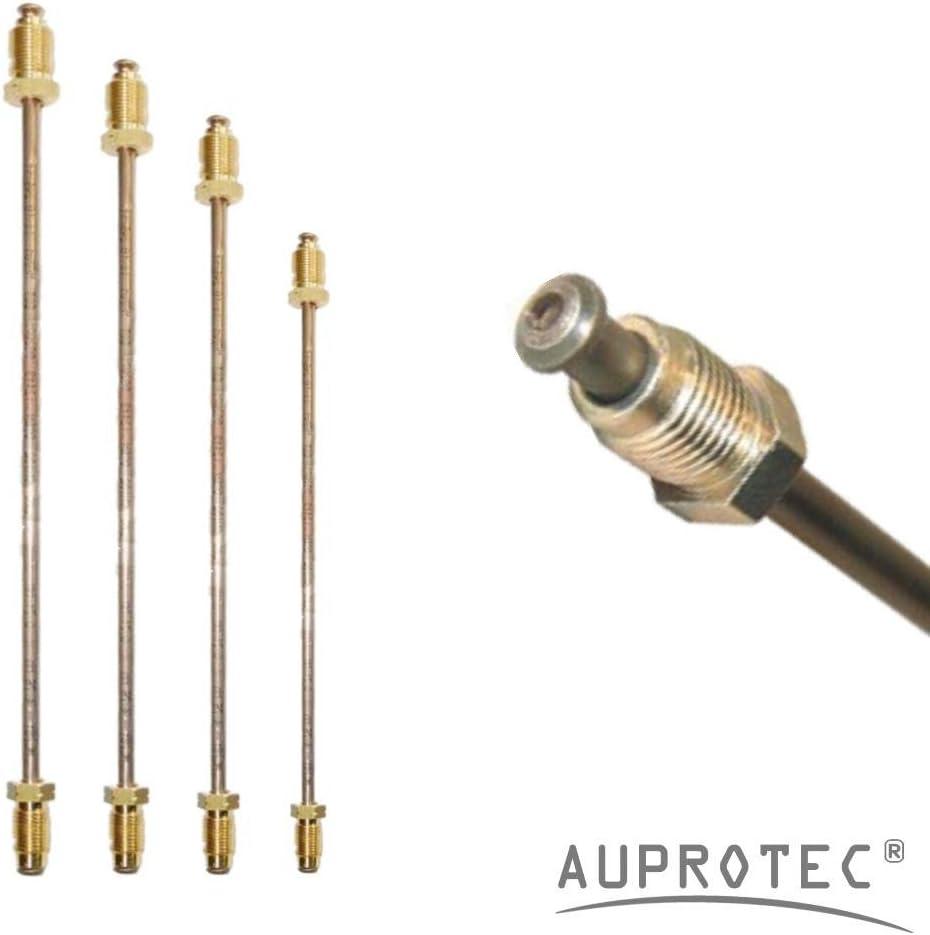 3050mm selezione Lunghezza 450 mm Tubo di Freno /Ø 4,75 mm Rame-Nickel assemblato Svasatura DIN F Tubi di Cupronickel DIN 74 234 per impianto frenato Tubazione dei Freni 150mm