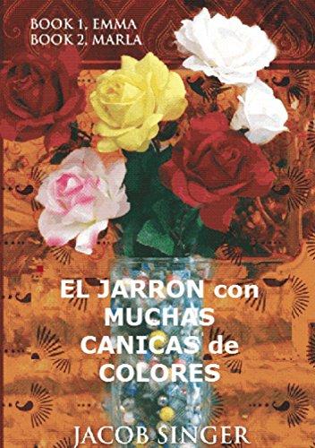 El jarrón con muchas canicas de colores