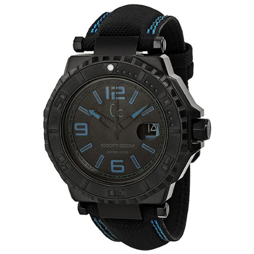 Guess GC-3 Collection Black Dial Blue Accent Unisex Watch X79012G2S