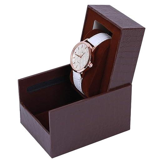 Caja De Reloj,Cajas para Relojes, Caja De Reloj Individual, Caja De Reloj Portátil, Caja De Regalo De Reloj: Amazon.es: Relojes