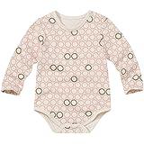 WithOrganic Organic Newborn Infant Baby Romper Short-Sleeve Bodysuit One Piece (6M, Pink Ladybug)