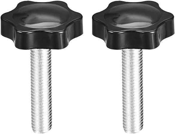 vis serrage molette 38mm diamètre bouton hexagonal Prune Poignées M10×50mm 2Pcs